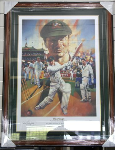 STEVE WAUGH SIGNED LTD ED PRINT