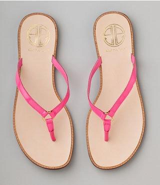 Get Here Warm Weather Cute Flip Flops Pink Flip Flops