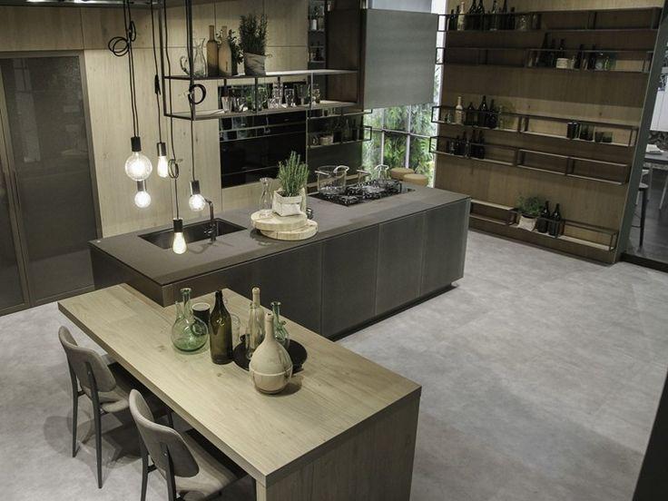 Cozinha de alumínio com ilha OPERA | Cozinha com ilha - Snaidero