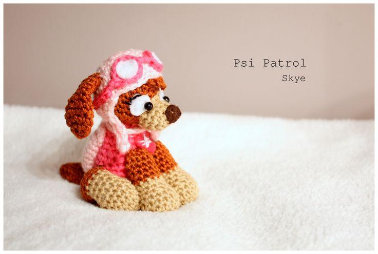 Amigurumi Skye  #amigurumi #amigurumis #pawpatrol #paw #patrol #psi #patrol #psipatrol #szydełkowanie #crochet #dogs #skye