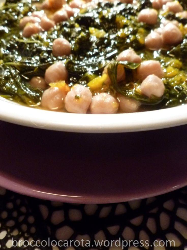 zuppa cavolo nero, zucca e ceci
