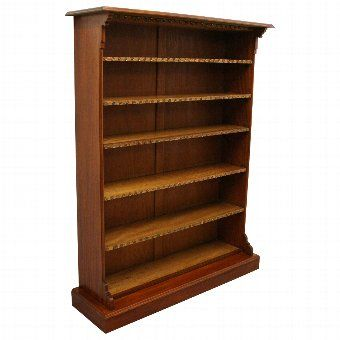 Antique Aesthetic Movement Mahogany Open Bookcase 1 | ANTIQUES.CO.UK |   *
