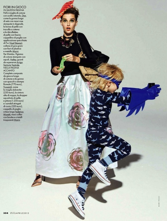 """Mommy Dearest"": Giedre Dukauskaite by Mark Pillai for Elle Italia April 2013"