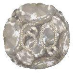 Number 60 Diamonds Look 60th Anniversary Round Pillow #weddinginspiration #wedding #weddinginvitions #weddingideas #bride