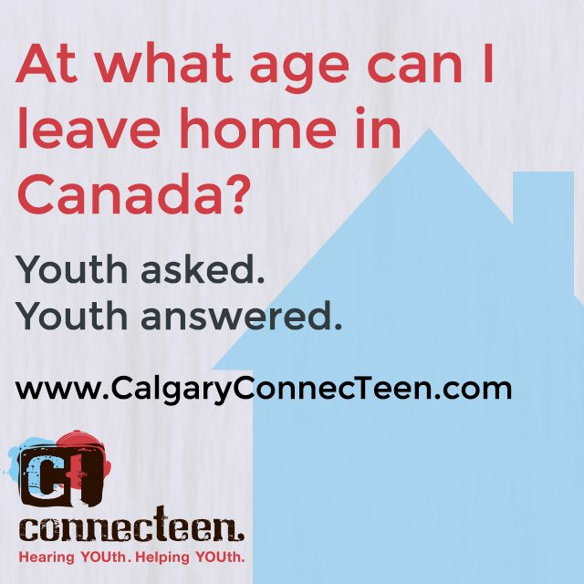 At what age can I leave home in Canada?  Visit our web site to see the answer to our latest Peer Talk question.   Do you have questions but don't know who to ask?  Are you ready to reach out for support? At Peer Talk you will find information and real life answers on the top concerns we hear about at ConnecTeen.