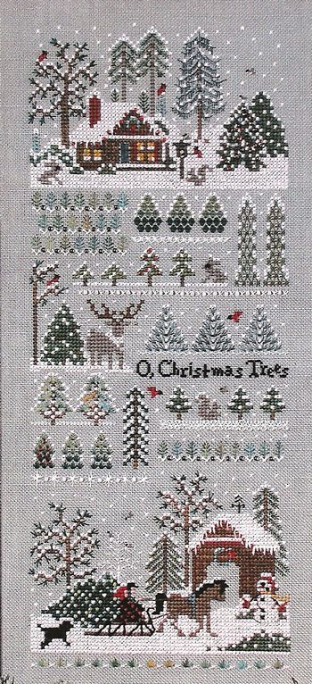 ♒ Enchanting Embroidery ♒ Victoria Sampler, Jingle Bell Tree Farm