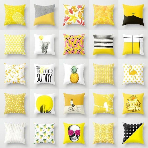 "18/"" Cover Linen Waist Pillow Decor Bed Home Case Car Cushion Cotton Sofa Leaves"