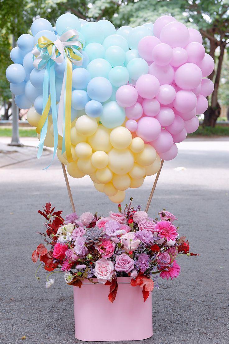 картинка цветы с шариками тем, как засаживать