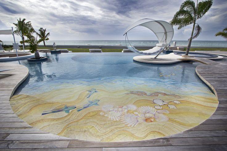 Beach/pool entrance selection of tile by VDA