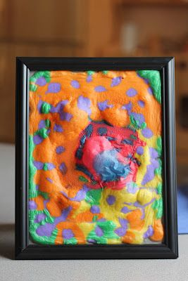 3D Painted Picture Frames ~ Simple homemade paint recipe. Science and Art