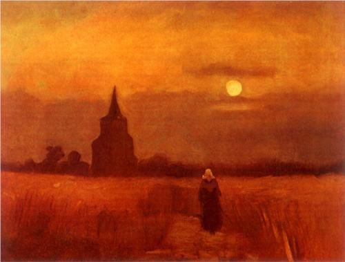 The Old Tower in the Fields, Vincent van Gogh, 1884. https://hemmahoshilde.wordpress.com/2015/03/21/vincent-van-gogh-sunny-buildings/
