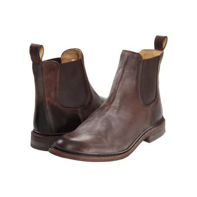 $258, Dark Brown Leather Chelsea Boots: Frye James Chelsea Pull On Boots Dark Brown Antique Pull Up. Sold by Zappos. Click for more info: https://lookastic.com/men/shop_items/81106/redirect