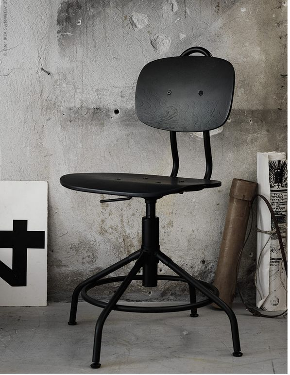 New Industrial Vintage-Style Office Chair at IKEA   Poppytalk