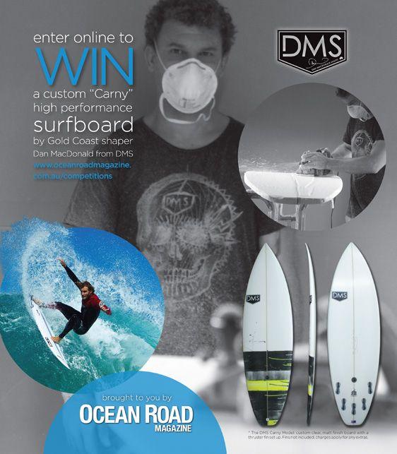 "WIN a custom ""Carny"" high performance surfboard by Gold Coast shaper Dan MacDonald from DMS Surfboards"