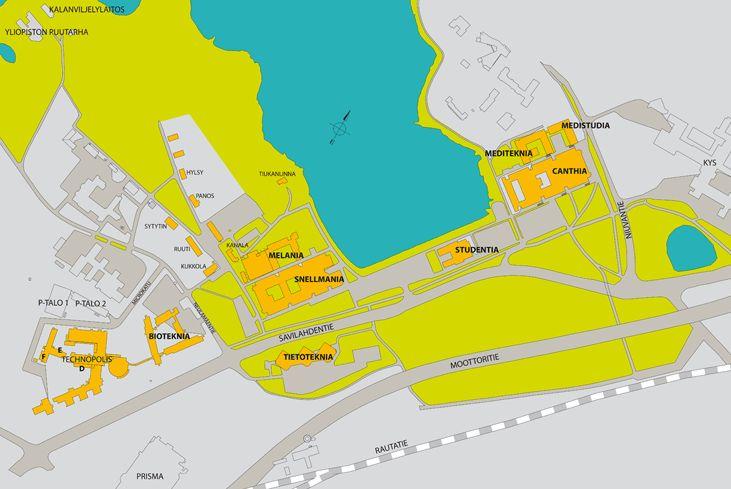 UEF - Kuopio campus map
