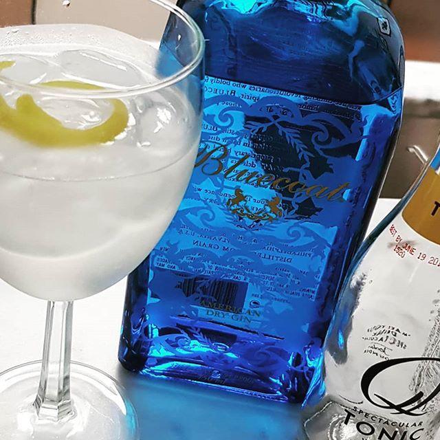 Bluecoat American Dry Gin Queensize Tonic Water Lemon peel. #gintonic #gin #gt #tonic #dandywithlens DandyWithLens.com
