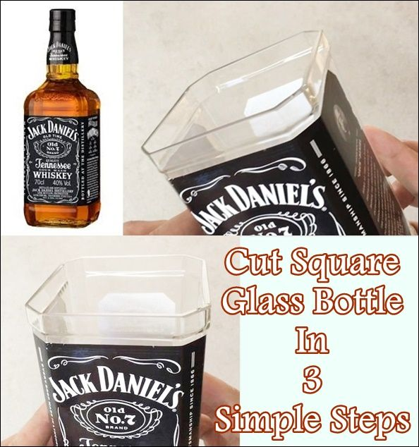 This step by step tutorial of how to cut square glass bottle in 3 simple steps. Using recycled empty liquor bottles that can be repurposed into a functiona