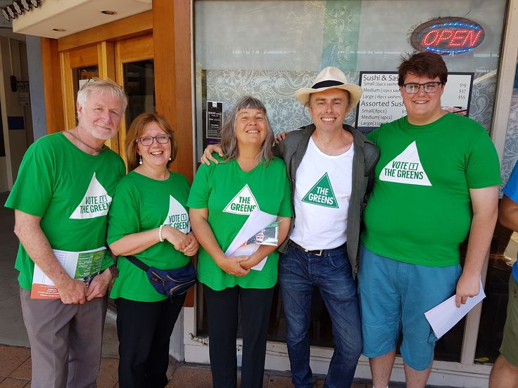 EPPING PRE-POLLING BOOTH - GREENS ONSLAUGHT  Wednesday (13 December 2017) had what must have been a record number of Greens volunteers at the Epping pre-polling place during the Bennelong by-election. Five!  The commentators had predicted that this Bennelong by-election would be on a knife edge. Due to that election having such significance for the Coalition's one-seat government, a number of Greens members came from other areas to lend a hand for that crucial by-election vote.  --- #Greens…