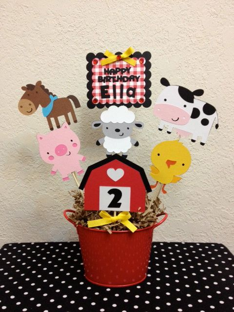 Farm Barnyard Birthday Centerpiece  Baby Shower by TheGirlNXTdoor, $20.00