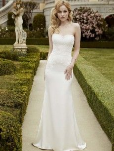 Istanbul- soft sophisticated sheath gown with an intricate corded lace bodice over satin.