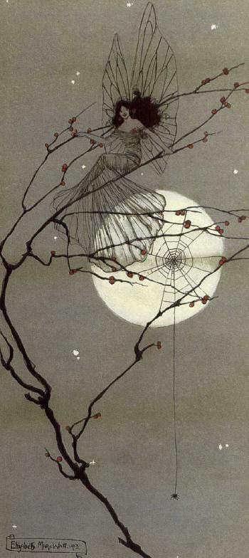Moonlit fairies - Elizabeth Mary Watt, 1912