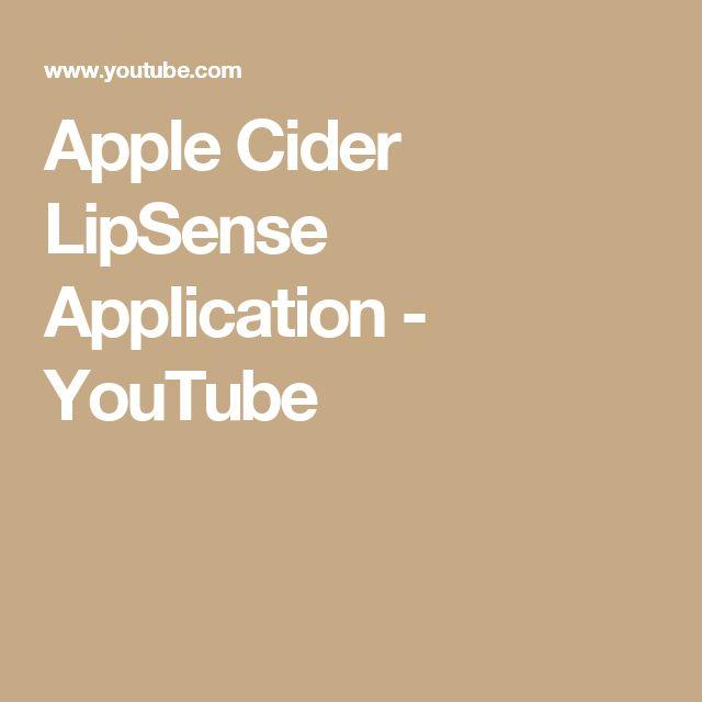 Apple Cider LipSense Application - YouTube