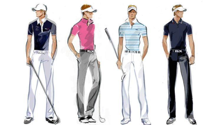 Dress like the pros: Sketches of Luke Donald's looks from Ralph Lauren RLX, the official clothing sponsor of the U.S. Open