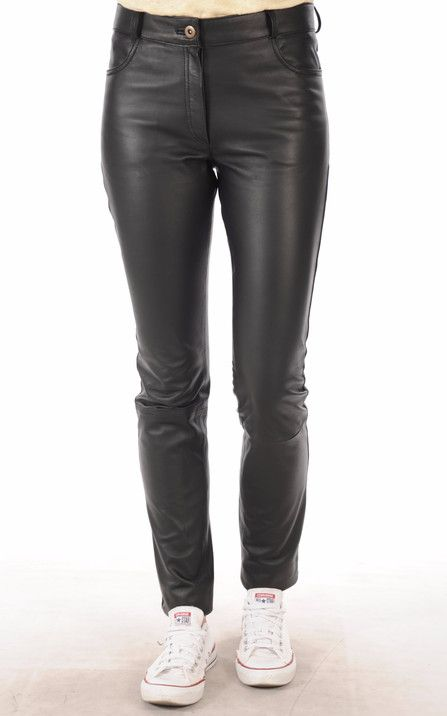 Pantalon Cuir Coupe Slim1