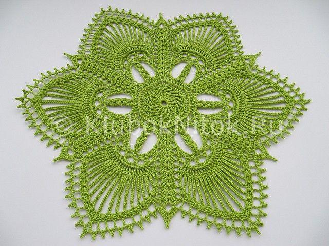 Салфетка Valerie   Вязание крючком   Вязание спицами и крючком. Схемы вязания.