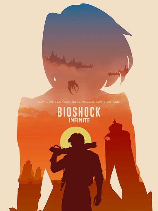Bioshock Infinite poster video game poster by TheCelluloidAndroid