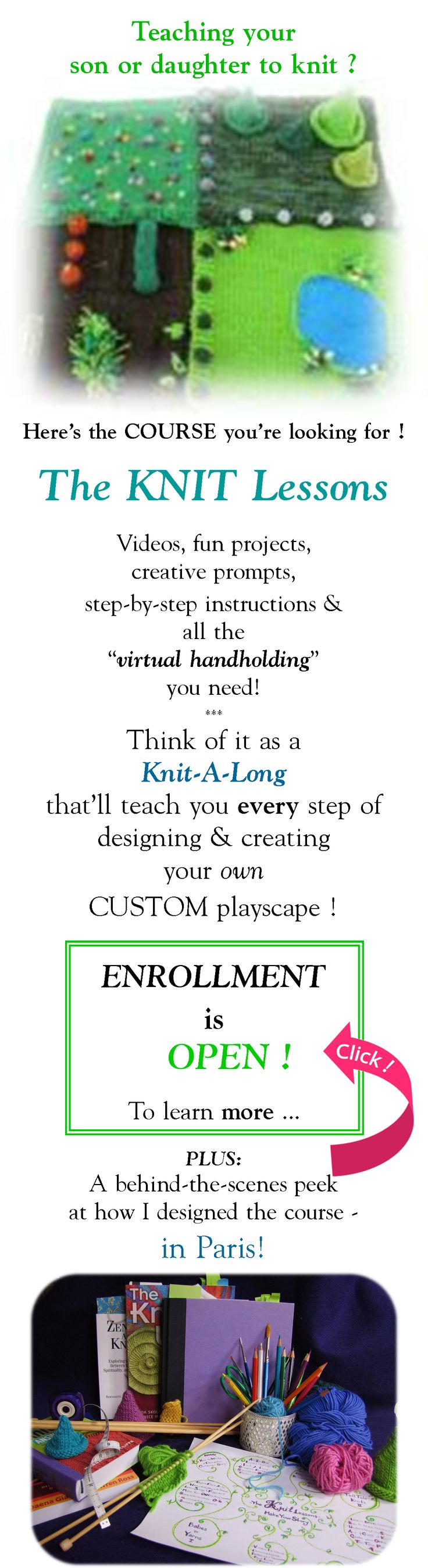 Knitting Worksheets : The knit lessons an online course that will teach you