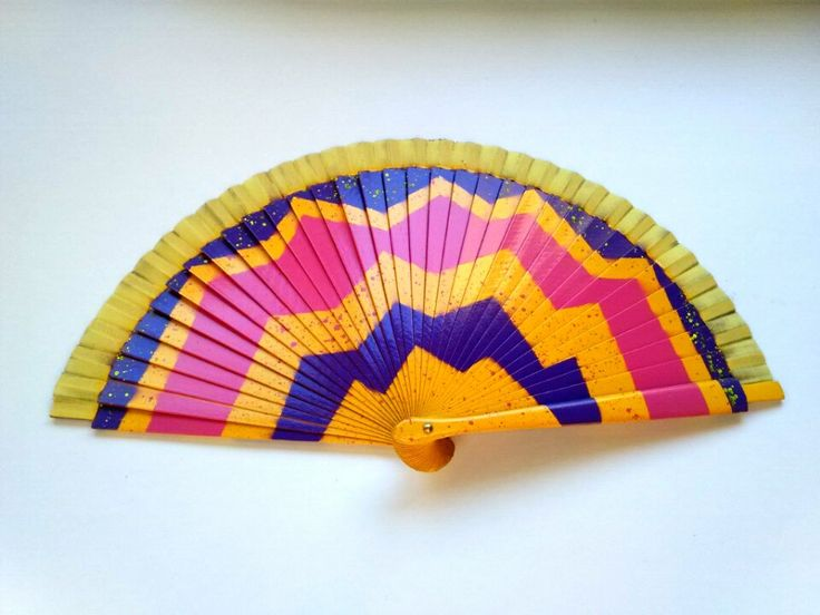 Abanico, Handfan, Spanishfan, Fan, Punk, Rave, Colourful de FisionGirl en Etsy