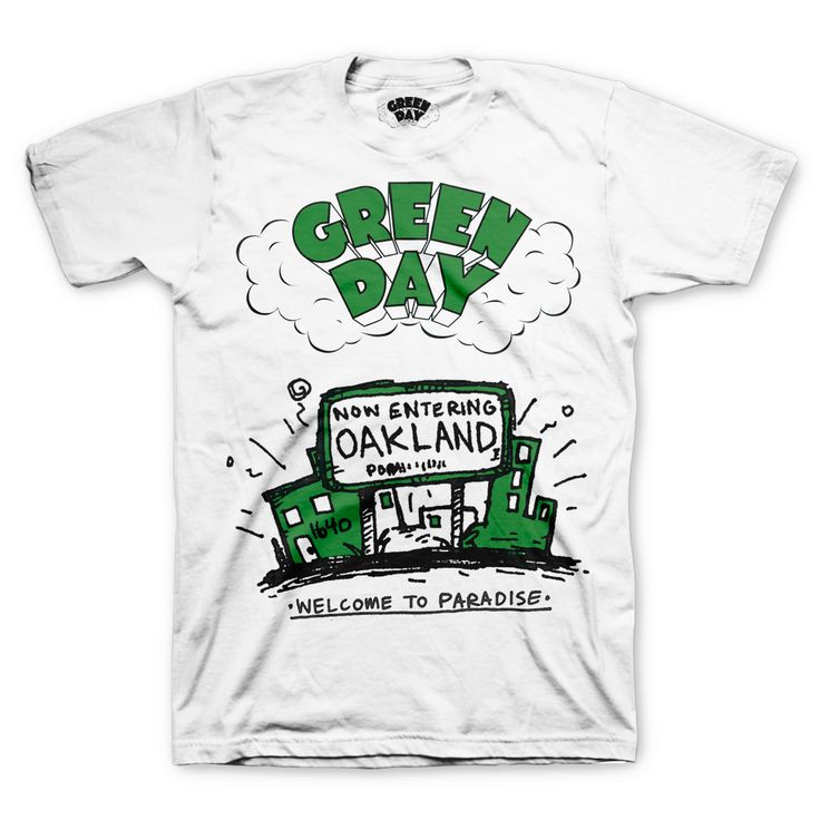 Welcome To Paradise T-Shirt – Green Day Shop
