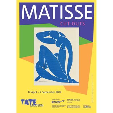 Matisse: The Cut-outs (exhibition poster)