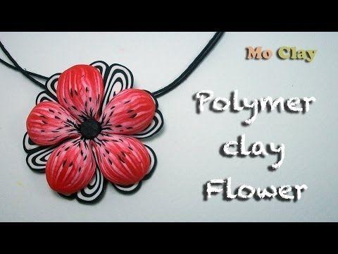 Polymer Clay Flower tutorial - Pendant charm - Ciondolo con fiore