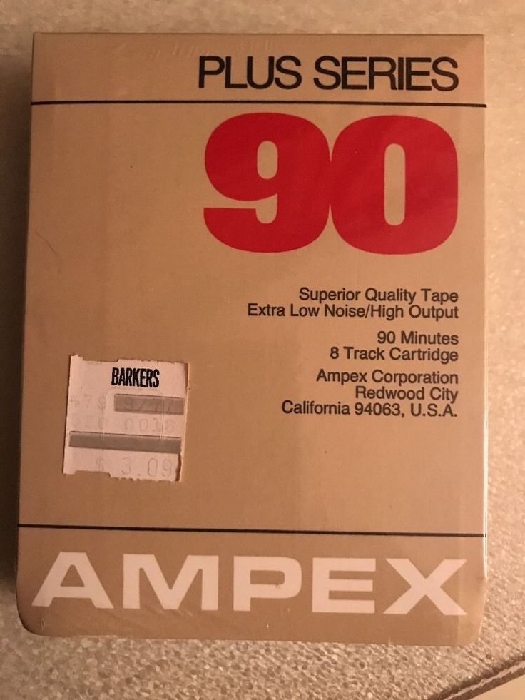 AMPEX PLUS SERIES 90 Blank 8 Track Tape EXTRA Low Noise New and Sealed Vintage #Ampex
