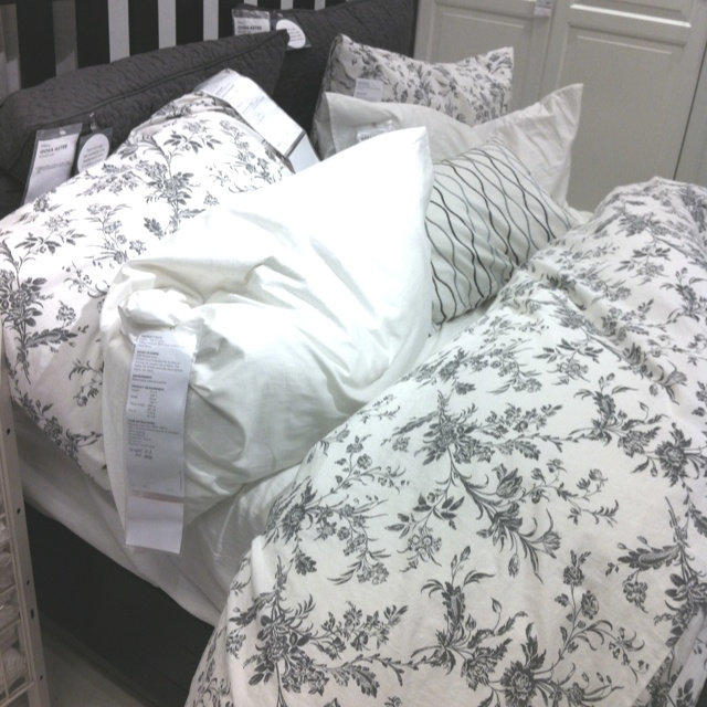 ikea alvine kvist gray floral duvet cover queen king