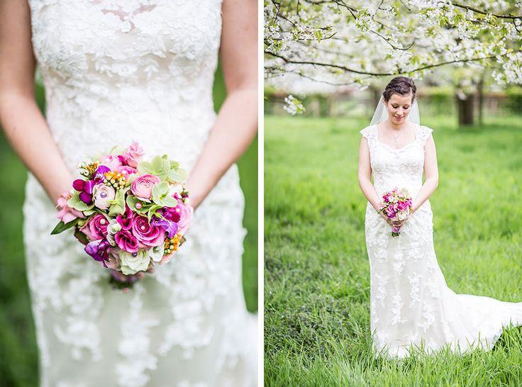 Bruidsboeket rose / roze zomer