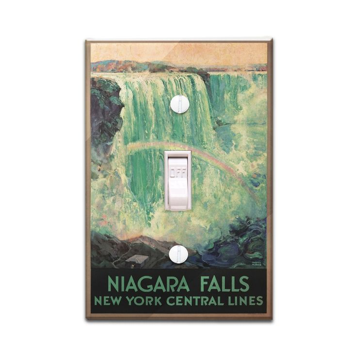 Niagara Falls NY Central Lines (Madan) Vintage Ad (Light Switchplate Cover)