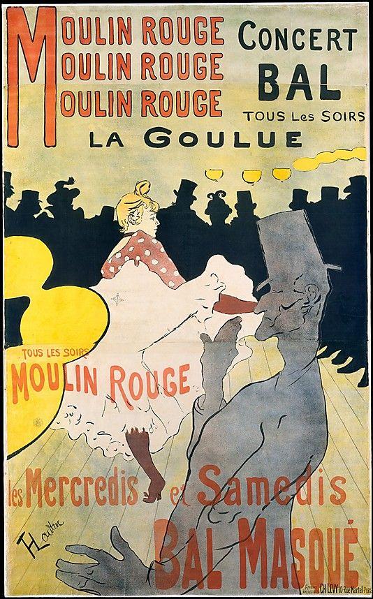 Henri de Toulouse-Lautrec (French, 1864–1901). Moulin Rouge: La Goulue, 1891. The Metropolitan Museum of Art, New York.