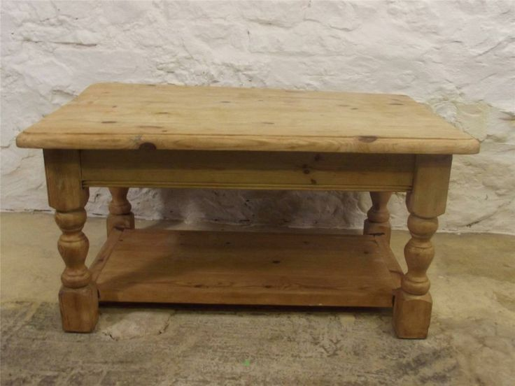 Lovely Stripped Pine Coffee Table Shabby Chic Paint Project Country Cottage C912