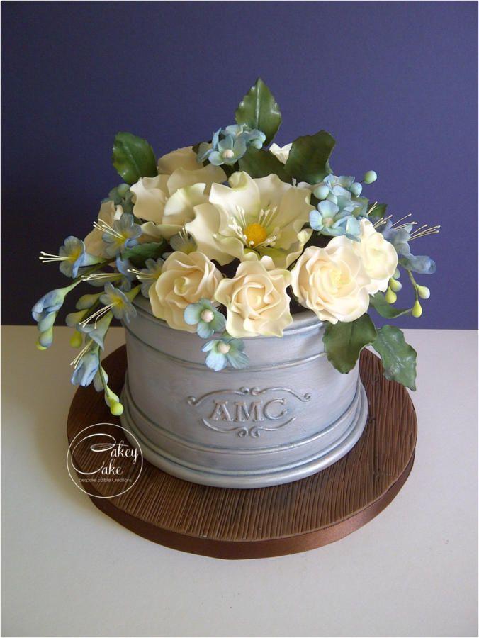 Spring Flower Planter - Cake by CakeyCake