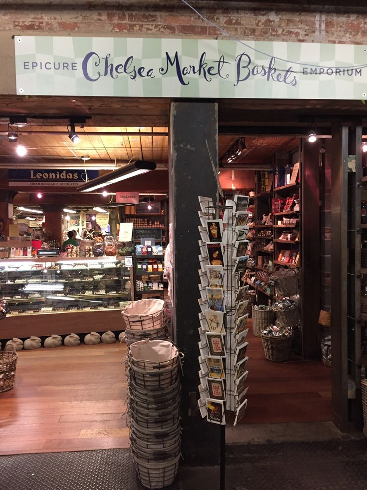Chelsea Market Baskets. Gourmet Shop. Located Inside the Chelsea Market.