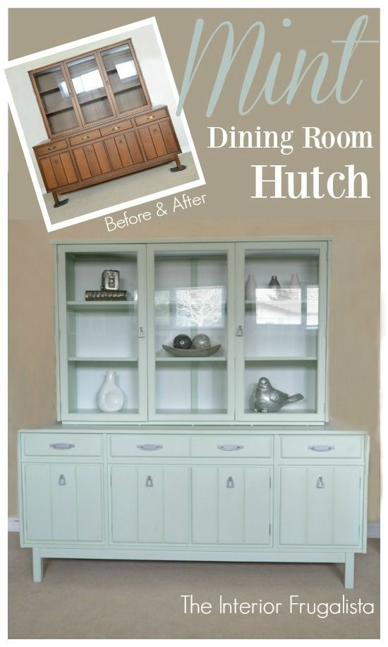 Mint Dining Room Hutch Before After