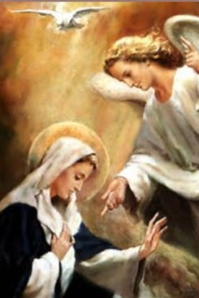 Happy Feast of the Annunciation!!! I know it's normally on March 25th, but this year it was moved to today, Mon. March 28, because Good Friday fell on Mar. 25th