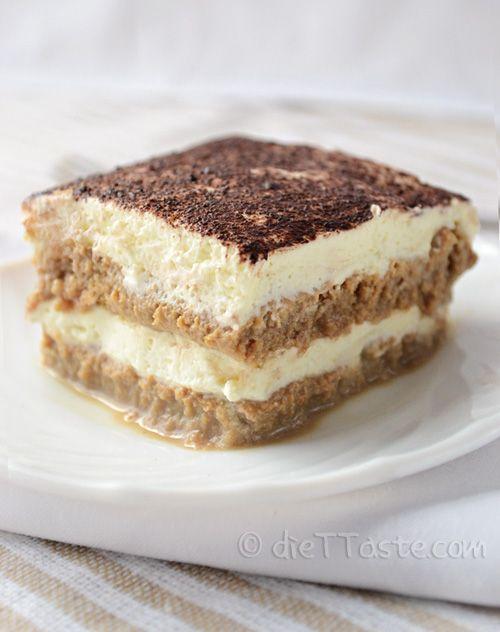 Eggless Tiramisu - easy and quick summer dessert; ready in a few minutes - diettaste.com