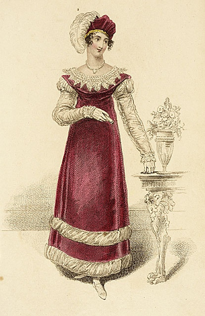 Fashion Plate (Full Dress for the Opera, Theatre ), March 1, 1815, LACMA Collections Online