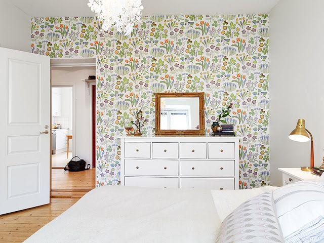 My Scandinavian Home Fun Lights And Pretty Wallpaper In A Swedish Apartment