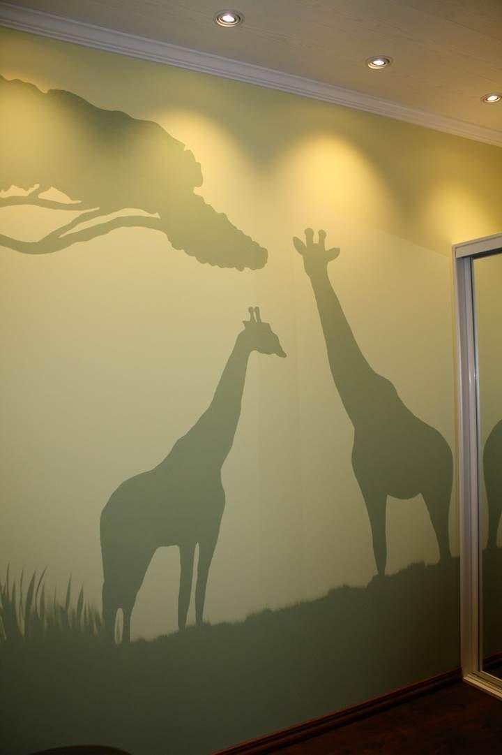 Lastenhuoneeseen tehtiin villi viidakkoteema!