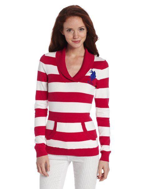 U.S. Polo Assn. Juniors Shawl Collar Pullover